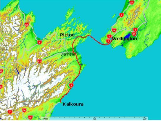 Wellington to Kaikoura via Picton